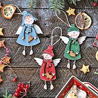 Деревянные игрушки на елку - Новогодние ангелы