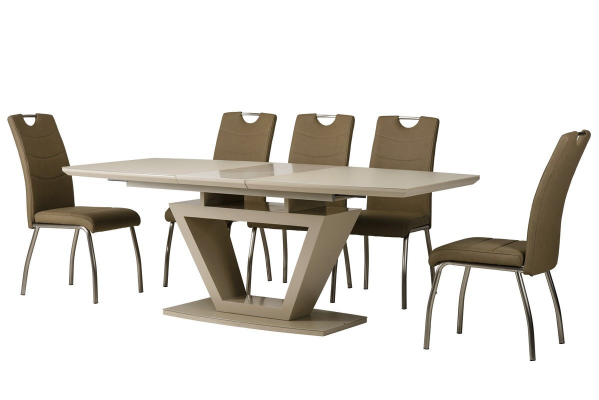 Раздвижной стол ТММ-53-2 матовый капучино от Vetro Mebel 160/200