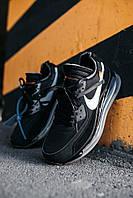Кроссовки мужские весенние осенние качественные модные Найк Off-White New Black, фото 1