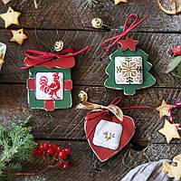 Новогодние винтажные украшения из дерева