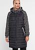 Длинная куртка комбинированная, с 52-62 размер
