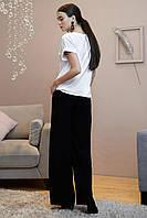 Базовая летняя блуза с коротким рукавом 1326 (44–50р) в расцветках, фото 3