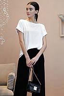 Базовая летняя блуза с коротким рукавом 1326 (44–50р) в расцветках, фото 1