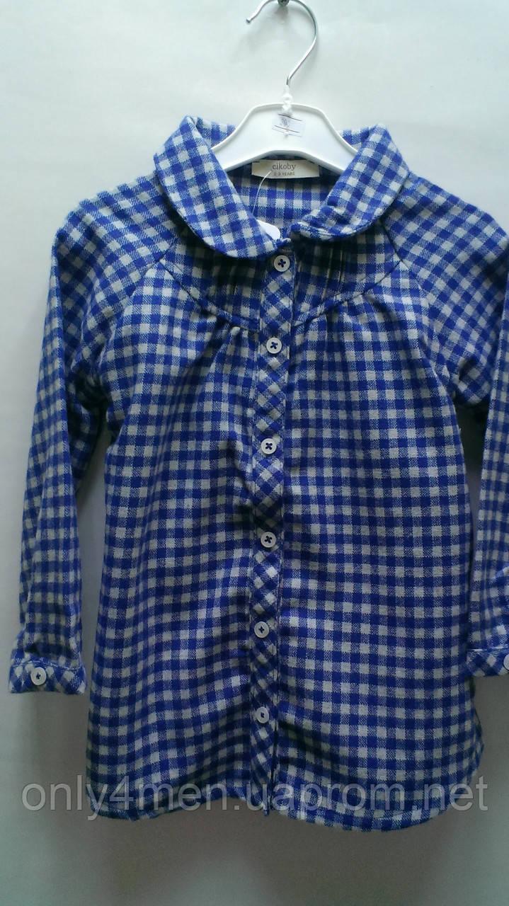 Рубашка-туника для девочек.В клеточку под поясок.