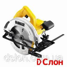 Пила циркулярная DeWALT DWE560, ручная, 1350Вт, диск 184х16 мм, пропил 65 мм, паралел. упор, вес 3.66 кг