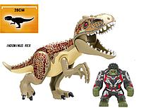 Динозавр Индоминус Довжина 29 см з великою фігуркою Халка аналог Лего Конструктор, фото 1