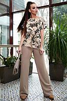 Базовая летняя блуза с коротким рукавом 1326 (44–50р) в расцветках, фото 5