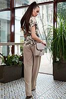 Базовая летняя блуза с коротким рукавом 1326 (44–50р) в расцветках, фото 6