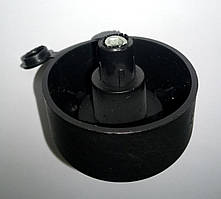 Ножка стопка опора АССА d-50 мм h-27 мм черная с заглушкой