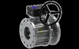 Кран шаровый стальной фланцевый 11с341п BREEZE серия Silver Ду100-400/300 редуктор