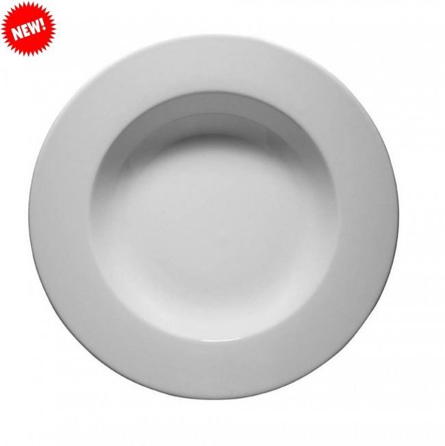 Тарелка белая фарфоровая глубокая Kutahya FRIG 220мм