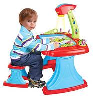 Детский столик с лампой и проектором 628-36