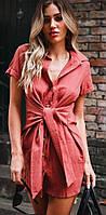 Стильная женская рубашка-платье
