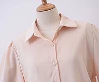 Женская Блуза из крепшифона  Персиковая