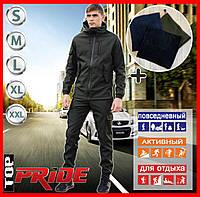 Мужской костюм Softshell хаки демисезонный . Куртка мужская ,штаны утепленные. Бафф в подарок.