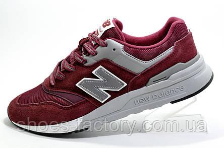 Мужские кроссовки в стиле New Balance 997H Classic, Бордовый, фото 2