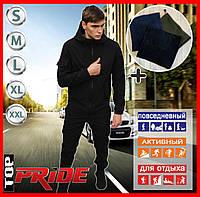 Мужской костюм Softshell черный демисезонный. Куртка мужская ,штаны утепленные. Бафф в подарок. В1