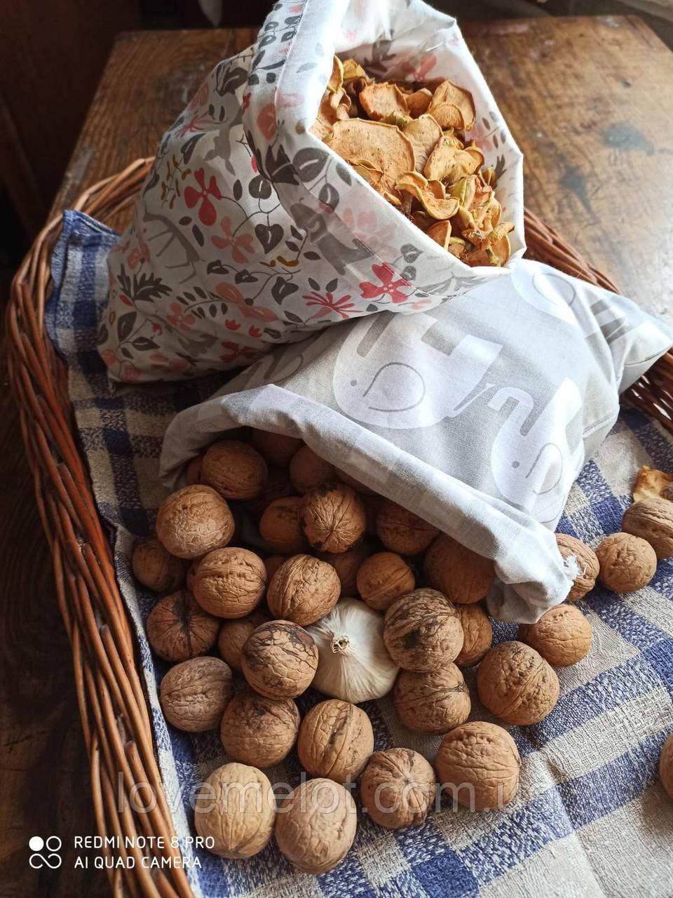 Многоразовый эко Мешочек х/б для сыпучих продуктов и хлеба для покупок екоторбинка размер 20*30см