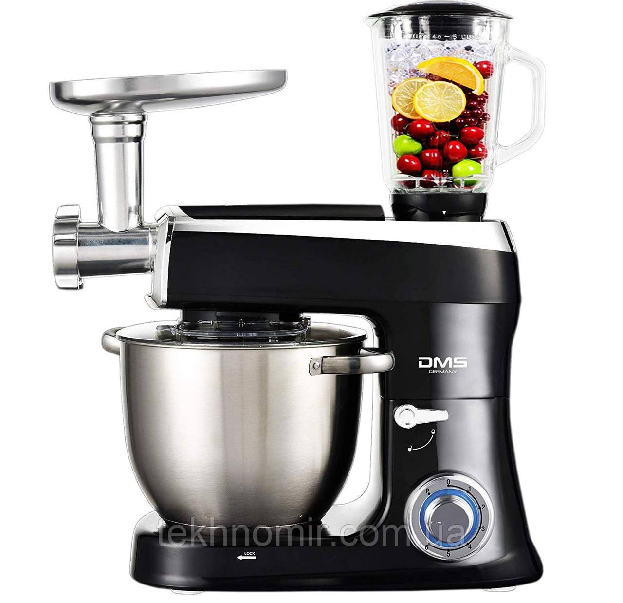 Кухонний комбайн 3в1 6.5 л чаша DMS Germany KMFB-2100R (чорний) 2100 Вт