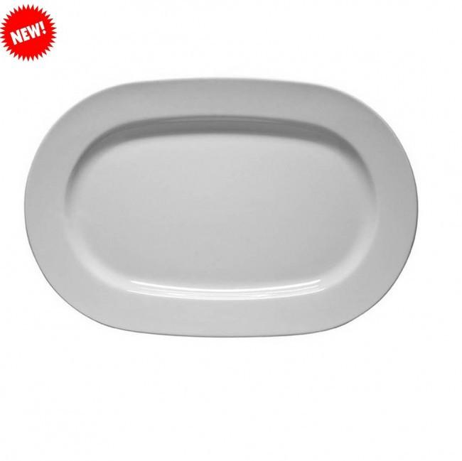 Тарелка белая фарфоровая овальная Kutahya Frig 320мм.