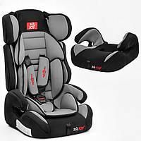Автокресло универсальное для детей JOY E 1390 цвет чёрно-серое, группа I/II/III, для ребенка весом 9-36 кг