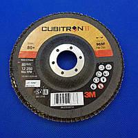 Лепестковый круг 969F 125х22 мм, P80, конический - 3M 51470 CUBITRON II