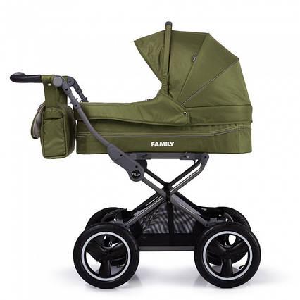Детская универсальная коляска с большими надувными колесами TILLY Family T-181 Green