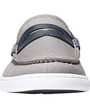 Мокасины мужские Cole Haan Nantucket Loafer, Gray Canvas/Blue Leather