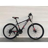 Спортивный подростковый двухколесный велосипед 24 дюйма TopRider Pelle 611 красный