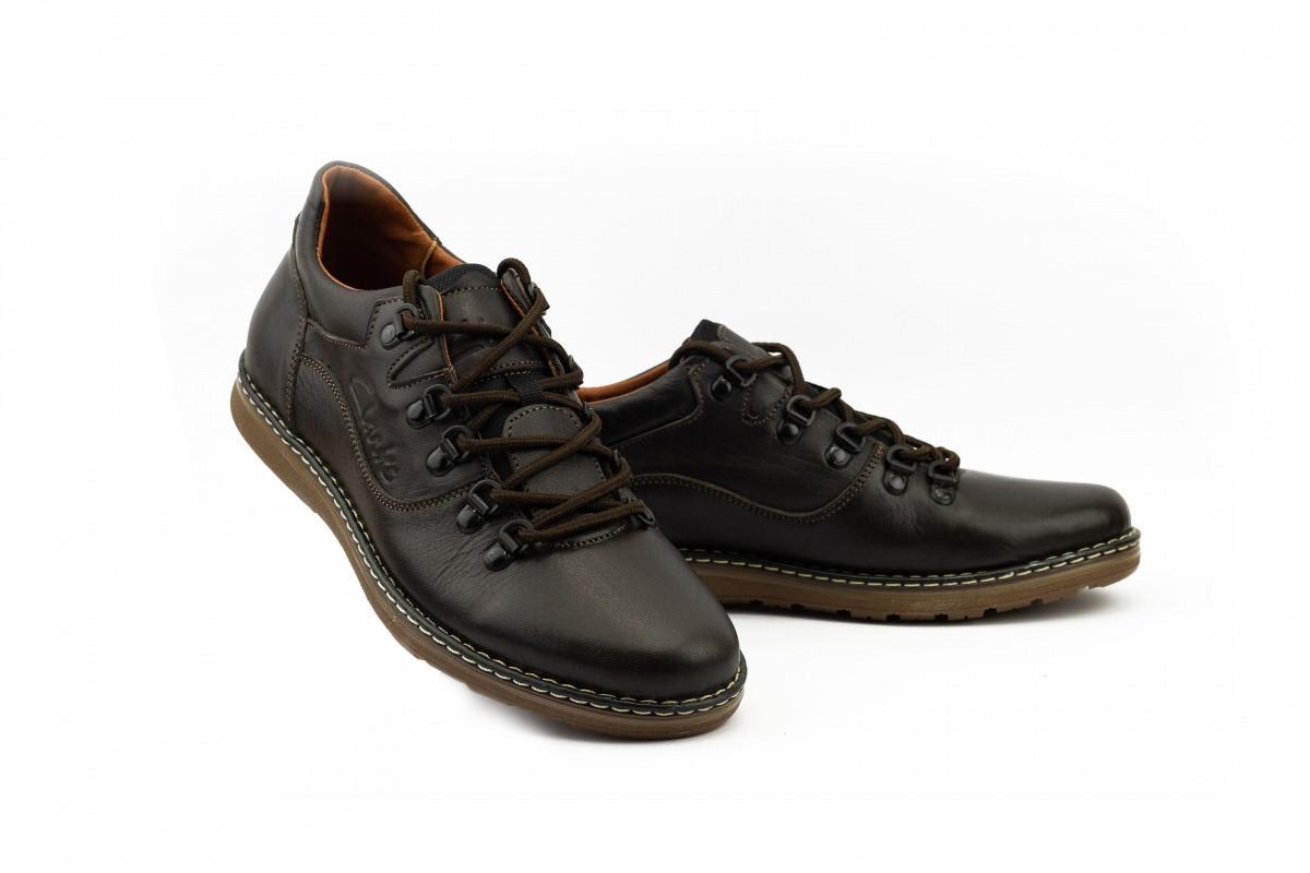 Мужские туфли с нат. кожи Shark 99235 Perforation WhiteClarls Коричневые р. 3940 р: 40 41 42 43 44 45