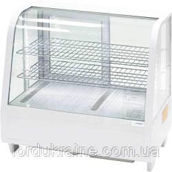 Витрина холодильная настольная Stalgast, 100 л, белая, с LED подсветкой, 852103