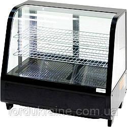 Витрина холодильная настольная Stalgast, 100 л, черная, с LED подсветкой, 852104