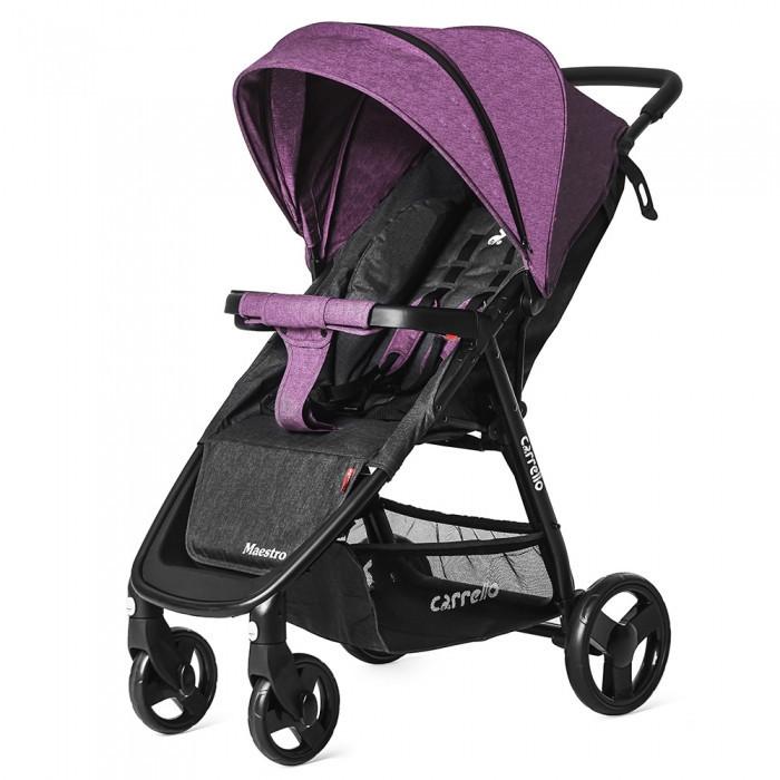 Прогулочная коляска с большими колесами и амортизацией CARRELLO Maestro в льне CRL-1414/1 Purple Iris