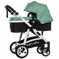 Коляска прогулочная для новорожденных 2 в 1 CARRELLO Fortuna CRL-9001 Forest Green с матрасом