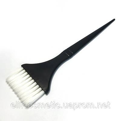 Кисть для окрашивания волос DenIS professional с белой щетиной- brown