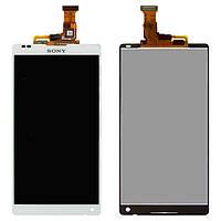 Дисплейный модуль (дисплей + сенсор) для Sony Xperia ZL C6502 L35h, белый, оригинал