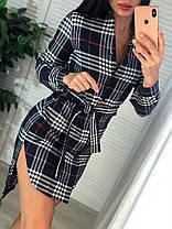 Платье-рубашка в клетку, размер С и М, фото 2