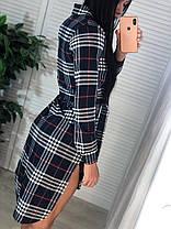 Платье-рубашка в клетку, размер С и М, фото 3