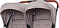 Прогулочная коляска для двойни CARRELLO Connect CRL-5502 Cotton Beige, фото 4