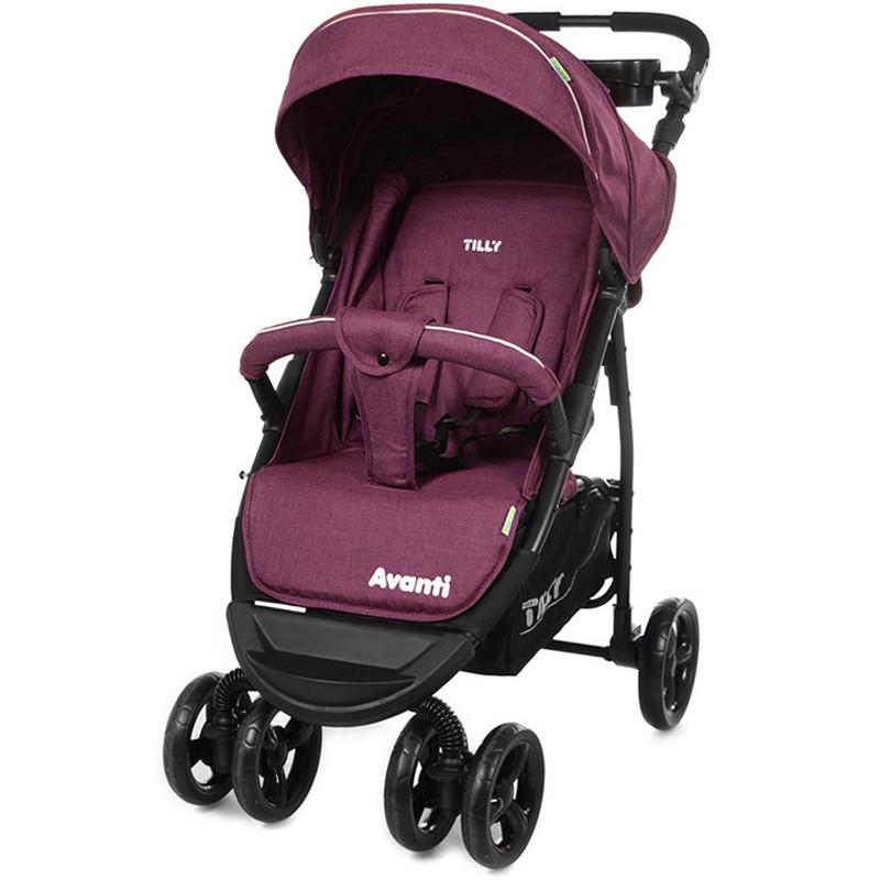Коляска прогулочная TILLY Avanti T-1406 Purple в льне