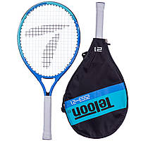Ракетка для большого тенниса TELOON, алюминий, длина-53,3см, синий (2553-21)