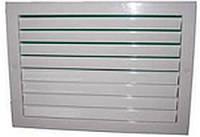 Решетка настенная однорядная накладная РВ 1525-1  200х200 мм