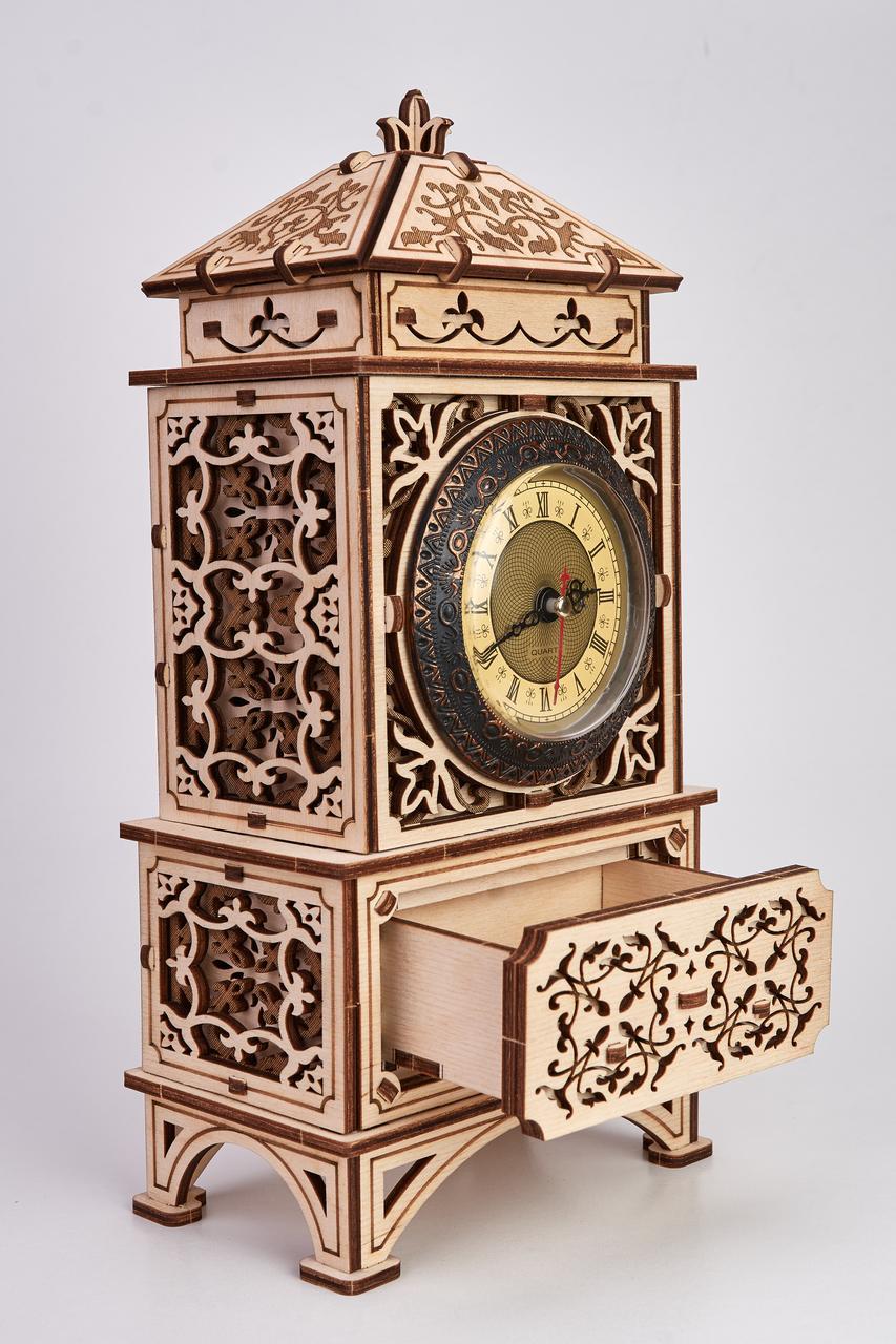 Дерев'яна модель Класичні годинник. Сувенір з дерева Wood trick. 100% ГАРАНТІЯ ЯКОСТІ (Опт,дропшиппинг)