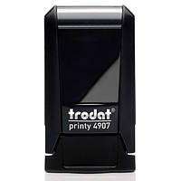Оснастка для штампа пластиковая прямоугольная Trodat Printy 4907 13х6 мм чёрная