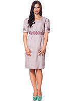 Изящное женское платье с вышивкой (S-XL)
