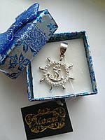 Серебряный мужской кулон «Штурвал» - морской символ, который отвечает завыбор правильного пути.