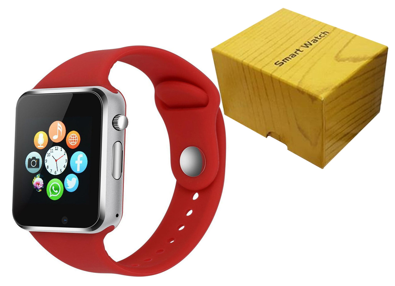 Умные часы Smart Watch A1 (Красные)