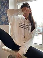 Худи батник женский с провокационными принтами Ткань - Двухнить, производства Турция, фото 1