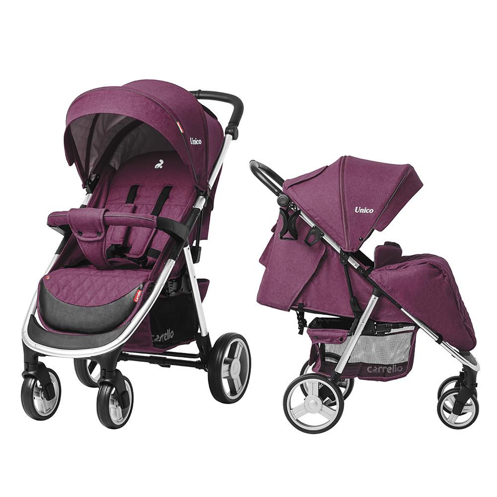 Коляска прогулочная с большими колесами CARRELLO Unico CRL-8507 Lilac Purple +дождевик
