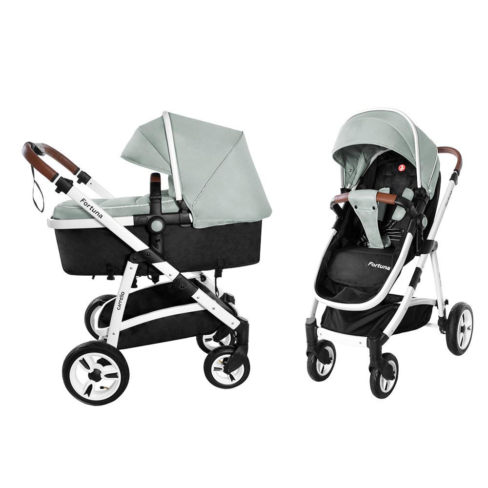 Коляска универсальная для детей с рождения CARRELLO Fortuna CRL-9001/1 Forest Green 2в1 c матрасом
